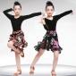 六一女童拉丁舞裙�和��功服比�演出服�b女孩少�何璧高B衣裙秋季